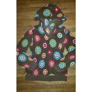 Gymboree Winter Cheer Fleece Dot Flower Pullover